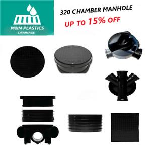 320mm Inspection Chamber Manhole - Base, Riser, Cover & Frame
