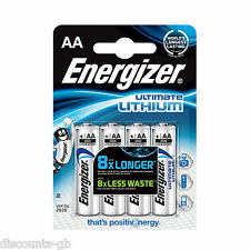 Energizer AA Ultimate batterie al litio 4 PACK AA-L91 Fotocamera, Photo LR6 lf1500