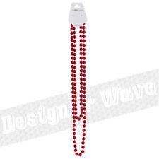 Collar de bisutería rojos de plástico
