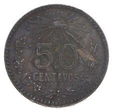 Silver - World Coin - 1944 Mexico 50 Centavos - World Silver Coin *594