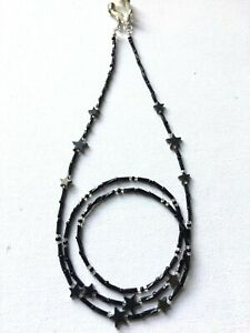 Star Hematite Chip Beads Glasses Spectacles Cain Holder Cord