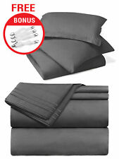 Twin Size Luxury 7 Piece Bed In a Bag 22 Colors With Bonus Bed Sheet Straps