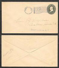 Old Postal Stationery Cover - Flag Cancel - Pawtucket, Rhode Island