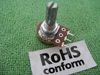 A-50K 6mm Mounting Split Shaft Audio Rotary Potentiometer Panel Mount PCB PIN