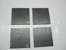 """QTY 4 STEEL  PLATES 1/4"""" x 4"""" x 4"""""""