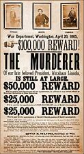 John Wilkes Booth Wanted For Murder - War Dept Poster - Abraham Lincoln, 1865