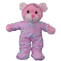 "8"" PINK SNOWMAN ALL-IN-ONE PJ - TEDDY BEAR CLOTHES FITS 8"" /20cm TEDDY BEARS"