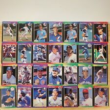 1989 Donruss Baseball Cards - Lot of 112 - MVP and Rookie Cards Included.