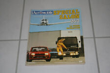 l'automobile magazine 412 special salon de l'automobile 1980 GP Hollande italie