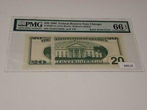 1996 $20.00 Board Break Error! PMG Certified! Trohpy! No Reserve!