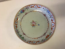 Antique 18th / 19th Cent. Lowestoft or Chinese Export Porcelain Plate Floral Dec