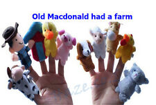 10 Pcs Old Macdonald Had A farm Finger Puppets Kids Hand Toy UUU