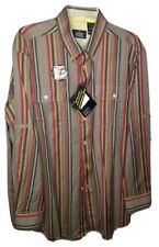 National Geographic Collection Button Down Ivory Long Sleeve Shirt Size L