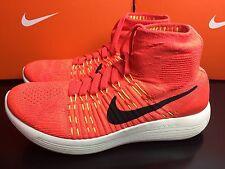 Nike Lunarepic Flyknit Womens Trainers Shoes UK 6.5 EUR 40.5 Orange 818677 600