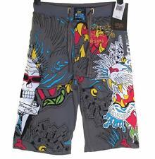 "New Men's Ed Hardy Shorts Beach Lounge Sleep Pyjama 28""-30"" Skull Tiger RRP$99"