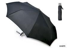 Drizzles Mens Compact Auto Open/Close Umbrella Black