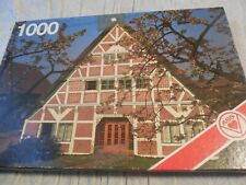 VINTAGE A.S.S. 1000 PIECE JIGSAW PUZZLE #5353/4 'CHERRY BLOSSOMS NORTH GERMANY'