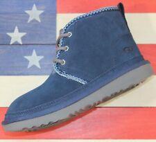 UGG Neumel II Kid's Waterproof Suede Sheepskin Chukka Boots Navy-Blue [1094529K]