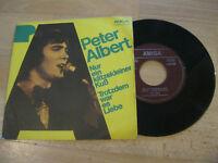 """7"""" Single Peter Albert Nur ein klitzekleiner Kuß Vinyl Amiga DDR 4 56 248"""