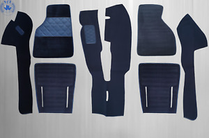 Carpet Set Carpet for Fiat X 1/9 Year 1972-1989 With Insulation, Blue