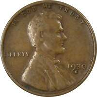 1930 S Lincoln Wheat Cent VG Very Good Bronze Penny 1c Coin Collectible