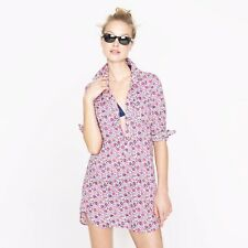 J Crew Liberty tunic/Beach Cover UP in D'anjo floral Size XXS NWT