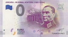 0 euro Turkei Scheine - TUAA - ANKARA - ATATURK - RARE !!!