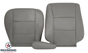 For 1998-2007 Toyota Land Cruiser -Driver Side Complete Leather Seat Covers Gray