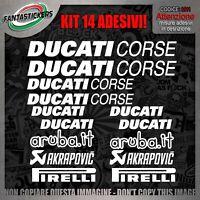 kit adesivi ducati corse adesivo stickers auto tuning stiker prespaziato moto v4
