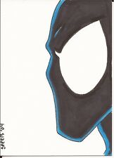SPIDER-MAN BLACK COSTUME hand drawn PSC in color by Mark SPEARS Marvel 2004