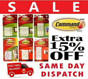 3M Command Strips Self Adhesive Damage Free Wall Hanging Picture Frames Posters™