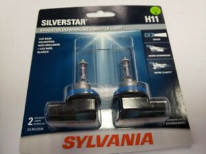 Sylvania Silverstar H11 55W Two Bulbs Head Light Low Beam Replace Upgrade Lamp