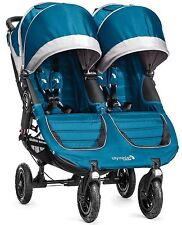 Baby Jogger City Mini GT Double Twin All Terrain Stroller Teal Gray NEW
