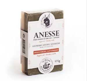 Donkeys milk French soap with Argan oil Double Face to Moisturise And Exfoliate