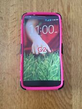LG G2 Rugged Pink Hybrid Soft  Rubber Hard Plastic  Cover With Stand
