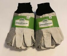 12 Pair of CANVAS GLOVES with Dots (L)  by EXPERT Gardener