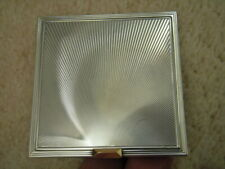 vintage solid silver and gold compact