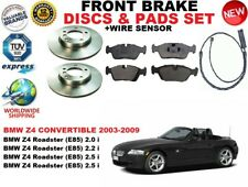 para BMW Z4 E85 Descapotable Discos freno Delantero Set + pastillas de Kit +
