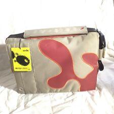 Funky laptop messenger bag fit iMac Or chromebook designed in Belgium bnwt