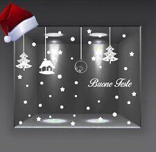 vetrofanie buon natale wall sticker adesivo per feste vetrine casa negozio a0344