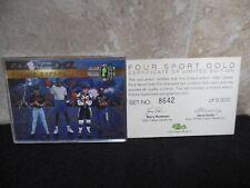 1992 Classic Four Sport Gold Superstar Auto, Shaq, Nevin, Hamrlik, Howard 1/9500