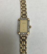 Vintage Female Geneve Watch - Diamond Encrusted Bezel