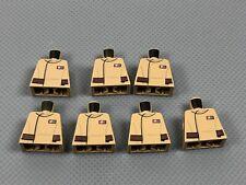 LEGO Minifigure Dark Tan Torso Badge & Belt Pattern - No Arms (x7) 973pb2225