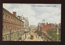 Hampshire Hants PORTSMOUTH Commercial Rd Tram early PPC by Photochrom