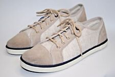 NEW Designer Timberland Canvas Men's Shoes Leather Suede Cream Lace Trainers 6