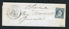 Rare lettre de Buzancy ( Ardennes 1855 ) pour Charleville - Cachet PC 571