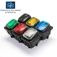 Heavy Duty KCD4 4pin Sealed Waterproof Boat Marine Toggle Rocker Switch with LED