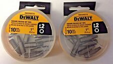 "Dewalt DW2202C10 #2 Square Recess Bit Tips 1"" (2 Packs of 10)"