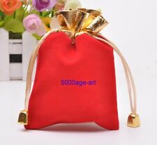 wholesale red black Velvet Wedding Party Favor Gift Candy Pouch Bags 84x120mm