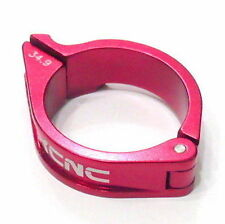 gobike88 KCNC Front Derailleur Clamp, 34.9mm, 16g, Red, E62